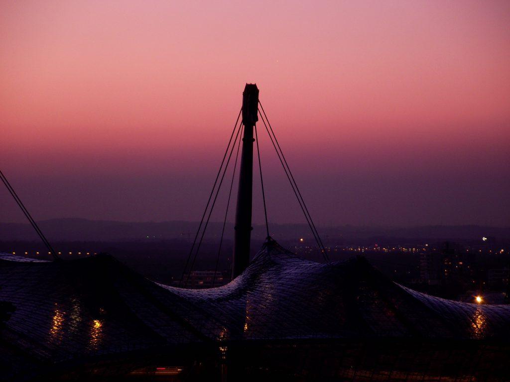 Sonnenuntergang auf dem Olympiaberg