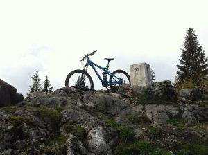 Das Mountainbike in seinem natürlichen Habitat.
